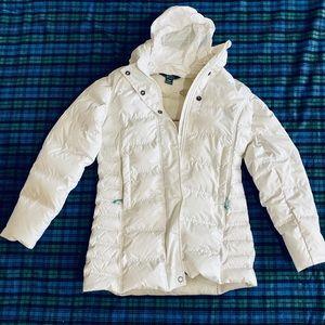 Woolrich White Puffer Coat, Down, Women's M